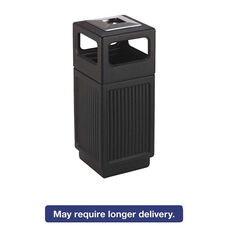 Safco® Canmeleon Ash/Trash Receptacle - Square - Polyethylene - 15gal - Textured Black
