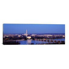 Bridge Over A River Washington Monument by Panoramic Images Gallery Wrapped Canvas Artwork