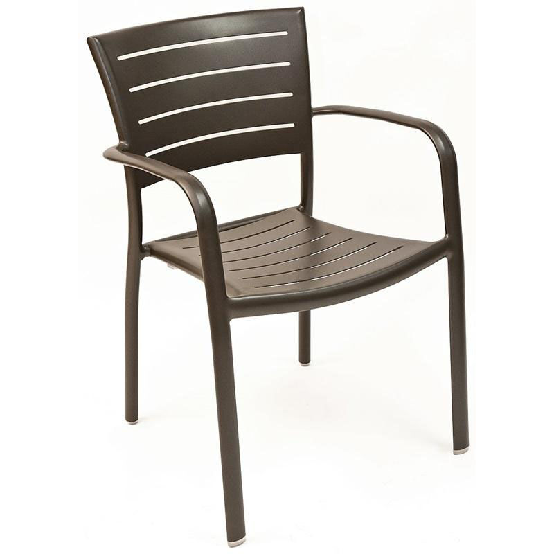 ... Our Riviera Collection Stackable Bronze Aluminum Outdoor Arm Chair Is  On Sale Now.