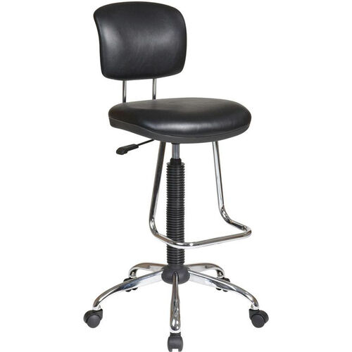 Our Work Smart Chrome Finish Economical Armless Chair with Chrome Teardrop Footrest - Black is on sale now.