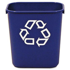 Rubbermaid Commercial Products Blue Deskside Recycling Container - 8.3