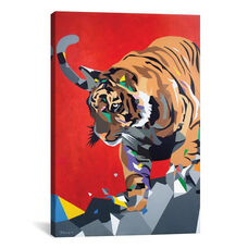 Geo Tiger by DAAS Gallery Wrapped Canvas Artwork - 18