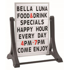 The Rocker Double Sided Sidewalk Sign with Changeable Letterboard