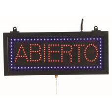 High Visibility LED ABIERTO Sign - 6.75