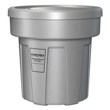 25 Gallon Cobra Flame Retardant Trash Can - Gray