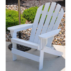 Cape Cod Recycled Plastic Adirondack Chair in White