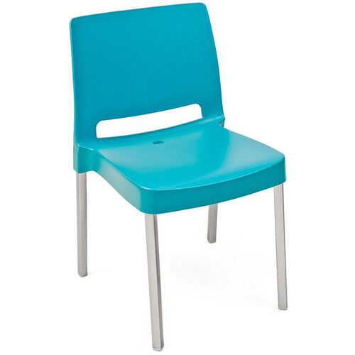 Peachy Pedrali Stackable Poly Shell Outdoor Chair In Aqua Squirreltailoven Fun Painted Chair Ideas Images Squirreltailovenorg