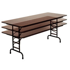 Adjustable Height Rectangular Melamine Top Folding Table - 72''D x 30''W