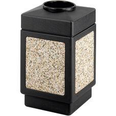 Canmeleon™ 38 Gallon Indoor or Outdoor Open Top Receptacle - Black