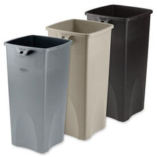 Rubbermaid Commercial Products Untouchable Plastic Waste Containers - 12.8