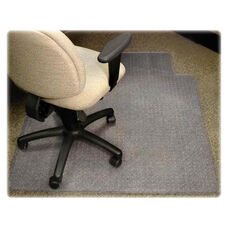Lorell Medium Pile Antistatic Wide Chairmat with Lip