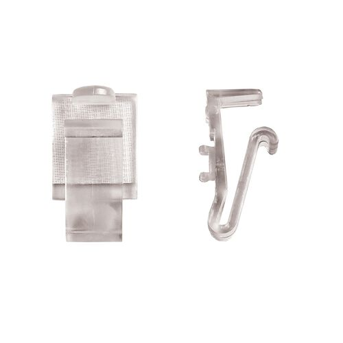 "Polycarbonate ""AV"" Skirting Clip for 3/8"" to 1/2"" Edge Tables - 100 Per Pack"
