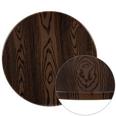 """24"""" Round Rustic Wood Laminate Table Top"""