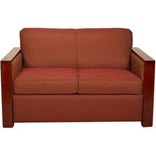 1212 Loveseat w/ Wood Trim Arm and Leg - Grade 1