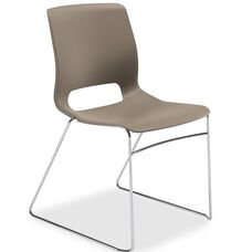 The HON Company Motivate Shadow Sled-based Stacking Chairs - Carton of 4