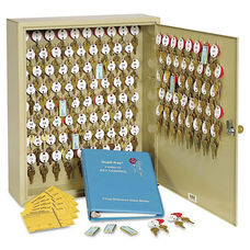 SteelMaster® Locking Two-Tag Cabinet - 120-Key - Welded Steel - Sand - 16 1/2 x 4 7/8 x 20 1/8