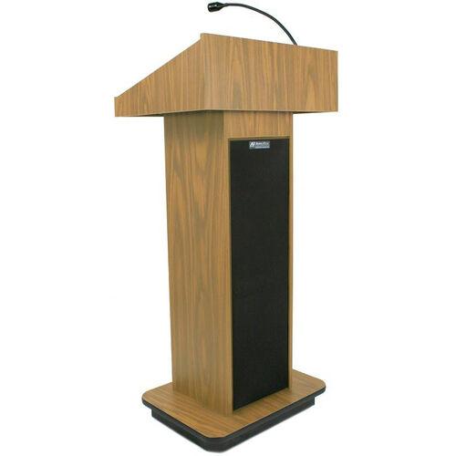 Our Executive 150 Watt Sound Column Lectern - Oak Finish - 22