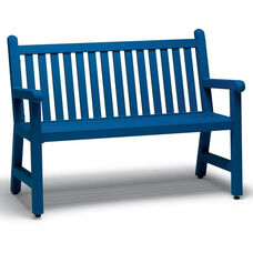 Yorktown Straight Back Slatted Bench with Arms - 4