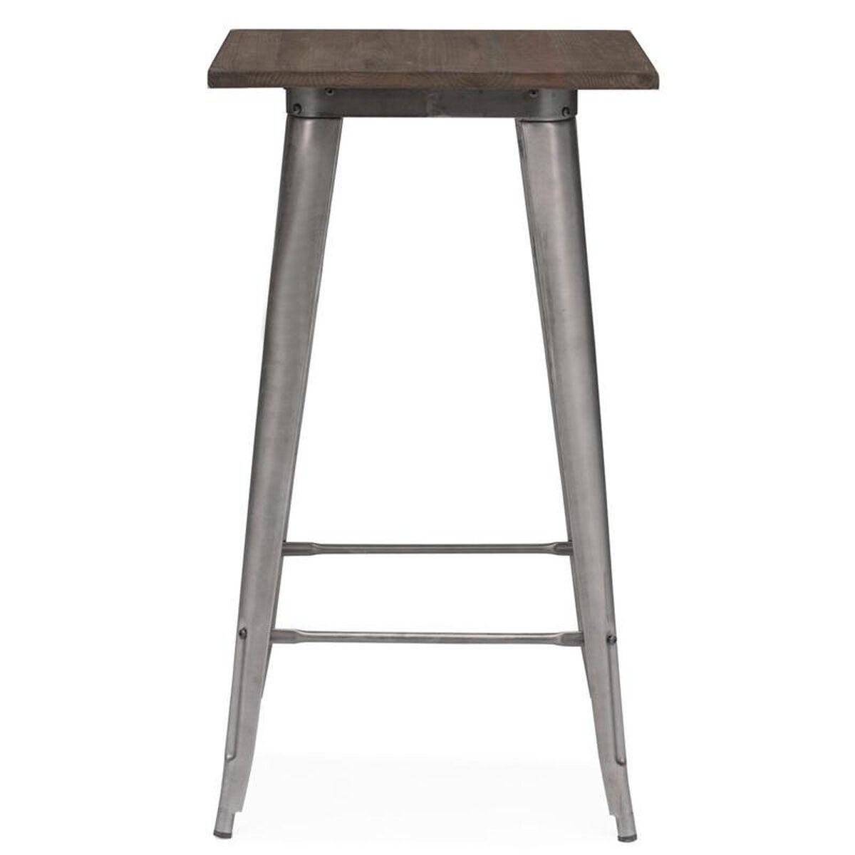 Dreux Gunmetal Steel Bar Table Restaurantfurniture4less Com