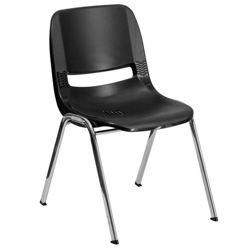 Our HERCULES Series 440 lb. Capacity Ergonomic Shell Stack Chair with 12