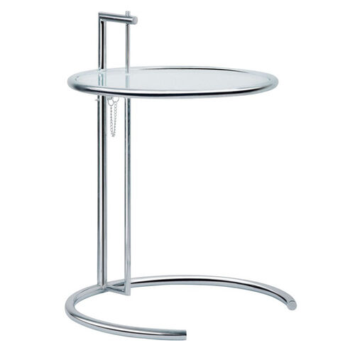 Our Eileen Adjustable Height Steel and Glass End Table is on sale now.