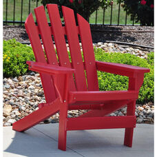 Cape Cod Recycled Plastic Adirondack Chair in Red