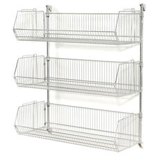 Chrome 3 Tier Wall Mount Basket Shelving - 48