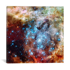 Star Cluster on Collision Course (Hubble Space Telescope) by NASA Gallery Wrapped Canvas Artwork