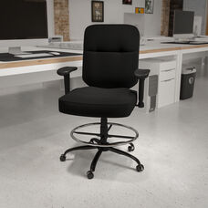 Black Polyester with Black Metal finish