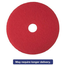 3M Red Buffer Floor Pads 5100 - Low-Speed - 5/Carton