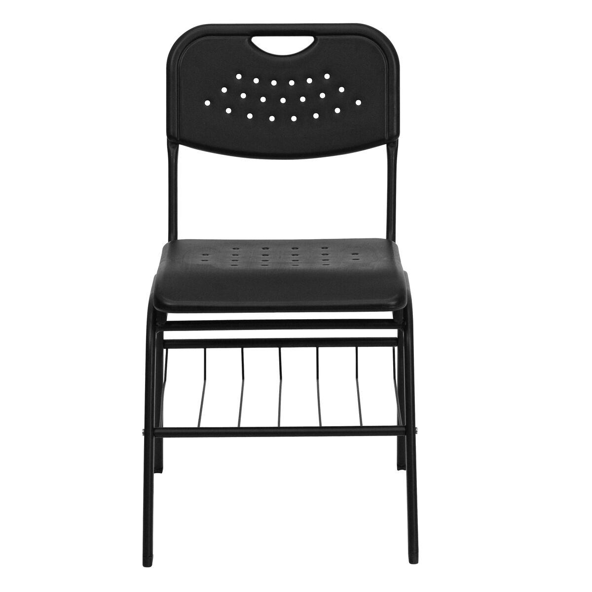 Black plastic student chair rut gk bk bas gg