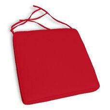 California Resin Wickerlook Chair Cushion Set of 4 - Logo Red