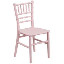 Kids Pink Resin Chiavari Chair