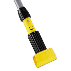 Rubbermaid® Commercial Gripper Aluminum Mop Handle - 1 1/8 dia x 60 - Gray/Yellow