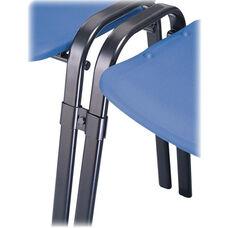 Safco Black Contour Stack Chair Connectors - Set of 6