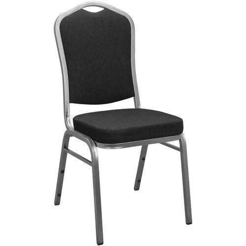 Advantage Black Crown Back Banquet Chair