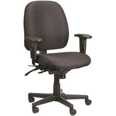 4x4 Mid Back 29.5'' W x 26'' D x 37'' H Adjustable Height Multi Function Fabric Task Chair - Black