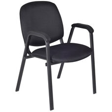 Ace 33''H Metal Frame Stackable Chair - Set of 18 - Black Fabric