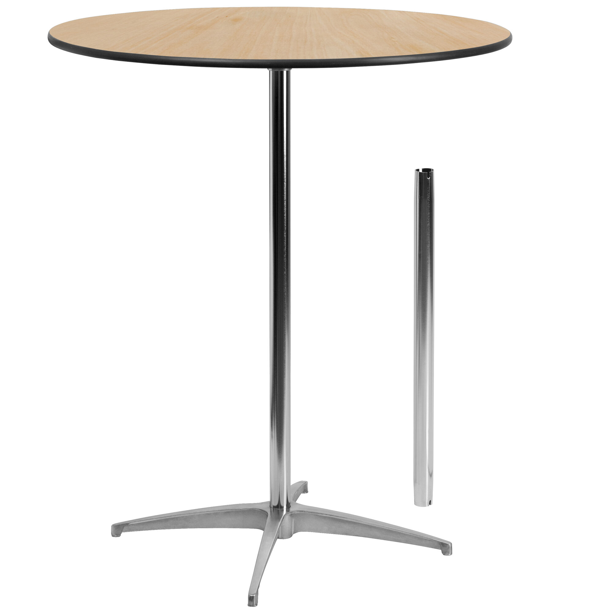 36 Round Wood Tail Table With 30 And 42 Columns
