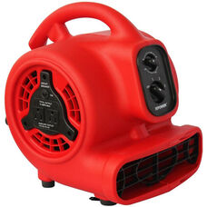 P-200AT Mini Air Mover with Built-in Power Outlets for Daisy Chain Capability and 1/8 HP - Red