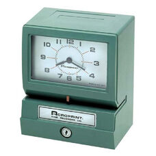 Acroprint Time Recorder Electronic Time Clock & Recorder - Prints hour, minute, date and month