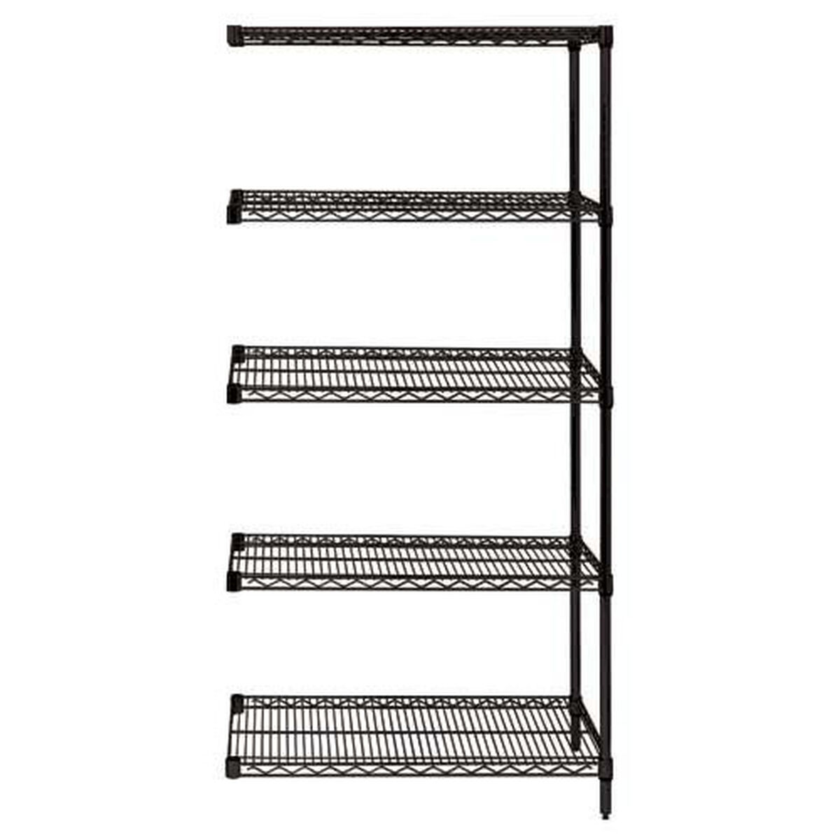 Black Wire Shelving Add On Unit AD63-2436BK-5 ...