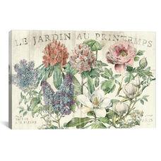 Le Jardin Printemps by Sue Schlabach Gallery Wrapped Canvas Artwork