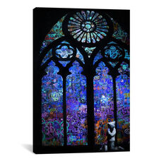 Stained Glass Window II by Banksy Gallery Wrapped Canvas Artwork
