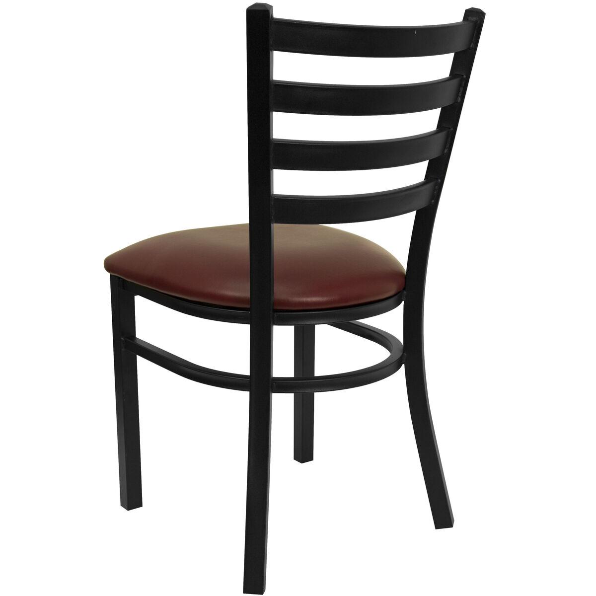 Black Ladder Chair Burg Seat Bfdh 6147ladby Tdr
