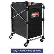 Rubbermaid® Commercial Collapsible X-Cart - Steel - Four Bushel Cart - 24 1/10d - Black/Silver