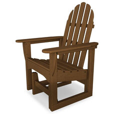 POLYWOOD® Adirondack Collection Glider Chair - Teak