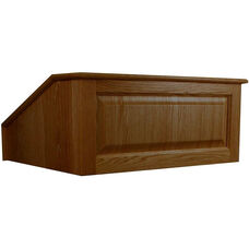 Solid Hardwood Victoria Non-Sound Tabletop Lectern - Walnut Finish - 27