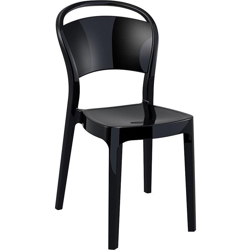 ... Our Bo Modern Polycarbonate Dining Chair   Glossy Black Is On Sale Now.