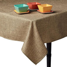 Square Polyester Table Cloth - Burlap